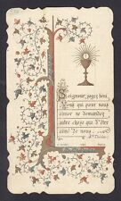 SANTINO 117 PRIMA COMUNIONE a MAGENTA 7 Aprile 1910 HOLY CARD IMMAGINETTA