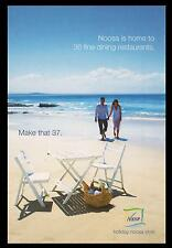 NOOSA BEACH POSTCARD - NOOSA HOLIDAY, RESTAURANTS, Tourism Noosa Advertising