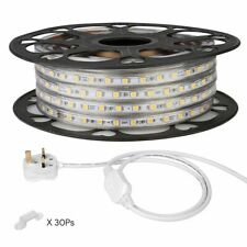 LE 15M LED Strip 220V-240V LED Tape Light IP65 5050 SMD LEDs, Warm White