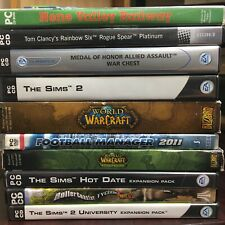 Job Lot of 50 PC Games - Mixed Genre Collection Boxed