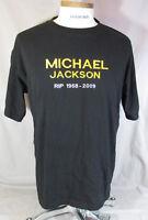 Michael Jackson King of Pop R.I.P. Black T Tee Shirt Size XL