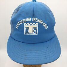 Vtg Kentuckiana Thermo King Screen Print Logo Made in USA Snapback Trucker Hat