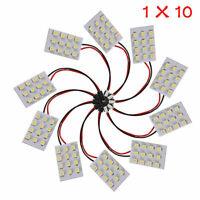 10x 12 SMD 5050 White Side Light Panel T10 BA9S Festoon Car LED Interior Bulb