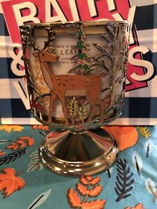 NEW 2020 Bath & Body Works FOREST FRIENDS 🦊🐻🦌 PEDESTAL 3 Wick CANDLE HOLDER