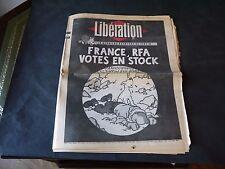 JOURNAL LIBERATION 6 MARS 1983 FRANCE, RFA VOTES EN STOCK TINTIN EST MORT