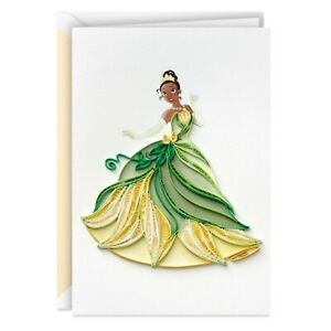 Hallmark LAD2855 Disney The Princess and the Frog Tiana Happy Wish Quilled Paper