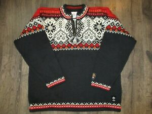 Dale of Norway Men's Wool Sweater 1/4 Zip Size L Salt Lake 2002 Olympics