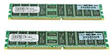 HP 1GB (2 X 512MB) ECC PC2100 DDR SDRAM MEMORY KIT 300679-B21 LOT OF 5 KIT