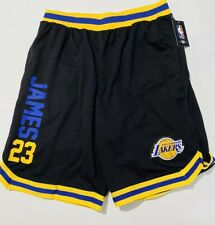 Los Angeles Lakers Lebron James Official NBA Jersey Shorts Size L (Retail $40)