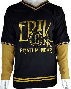 Mens EPIK PREMIUM WEAR T-shirt Long sleeve 3XL 4XL 5XL 6XL Big & Tall Plus Size