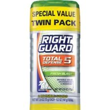 Right Guard Total Defense 5 Fresh Blast Twin Pack Antiperspirant Deodorant Solid