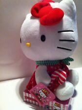 "Sanrio CHRISTMAS HELLO KITTY IN SANTA OUTFIT 6"" Plush Stuffed Animal Toy NEW"