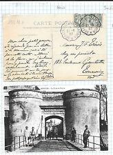 Francia. Postcard con 2 sellos de 5 cts con salida en Dunquerque