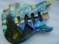 3 Piece North American Alder Strat SSS Stratocaster Guitar Body Hand Painted