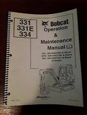 Bobcat Operation Amp Maintenance Manual 331 331e 334 G Series