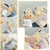 Funny 3D Squishy Soft Chicken Case Cover For iPhone 11 12 MINI PRO MAX 8 SE 2020