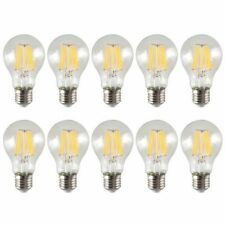 X10 LAMPADINA VTAC BULBO 8W LED FILAMENTO E27 SFERA LAMPADA LUCE NATURALE