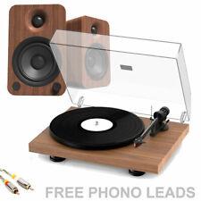 Pro-Ject Debut Carbon EVO Turntable + Kanto YU4 Active Speaker Bundle in Walnut