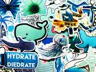 50 Surfer Ocean Blue Stickers For Children Kids Motorcycle Bike Wall Decals  BM