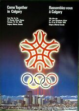 "1988 Calgary - WINTER OLYMPIC POSTER - IOC Licensed reprint  13"" x 18"""