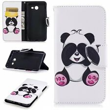 For Samsung Galaxy A3 2017 Panda Wallet Leather Card Slot Flip Stand Case Cover