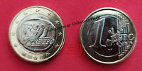 "GREECE 2002. 1 EURO COIN ""S"" . ATHENIAN & OWL, THE SYMBOL OF GODDESS ATHENA.UNC!"