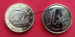 "GREECE 2002. 1 EURO COIN ""S"" . ATHENIAN & OWL, THE SYMBOL OF GODDESS ATHENA.UNC!"