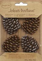 Jolee's Boutique Dimensional Stickers-Glittered Edge Pinecones, E5021016