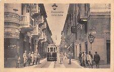 8913) ALESSANDRIA CORSO ROMA BAR FLORE' TRAM E BICICLETTA VG 1914.