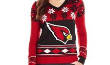 NFL Women's V-Neck Sweater, ARIZONA CARDINALS X- Large New in Package