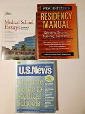 New ListingLot of 3 Medical School Residency Manual Essay Books Educational College