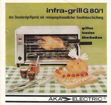 OBERLIND, Prospekt 1983, VEB Elektroinstallation infra-grill G 80/1