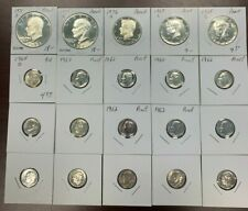 20 X Silver Proof Coins $5 Face Value Silver Ikes, Kennedy Halves and 90% Dimes