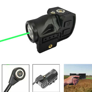 Green Dot Laser Sight &Flashlight Combo with Rechargeable Battery For Pistol Gun