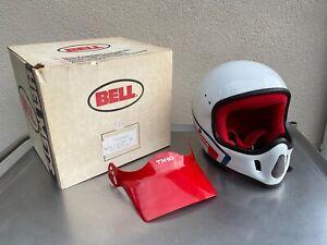 Vintage 1987 Bell Moto  Full Face  Motorcycle Helmet with Visor Size 7-1/4