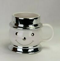 Harry Slatkin & Co. Ceramic Snowman Signed 2008 Holiday Christmas Coffee Cup Mug