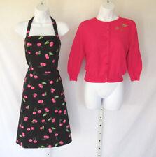 Vtg 1990s 2000s Danny & Nicole Size 6 Cherries Dress & Sweater Cotton Spandex