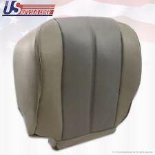 2002 GMC Yukon Denali Driver Bottom Replacement Leather Seat Cover 2-Tone GRAY