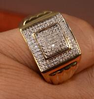 Man's Diamond And Gold Rings pinky Ring Man's jewlery Diamond Ring Gold Ring