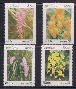 Laos   1996   Sc # 1292-95   Flowers   MNH  OG   (51525)