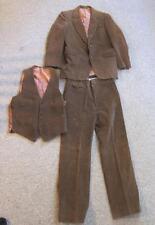 Vintage Buffums 1970 Brown Corduroy 3 Piece Men's Suit l