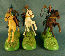 2004 Wild West Britains Cowboys Mounted on Horses Toy Figure Lot (3)