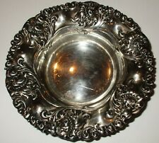 1910 Sterling Silver Ornate Mint Dish Signed Sterling Hallmarked A 464
