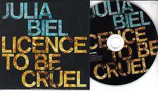 JULIA BIEL Licence To Be Cruel 2015 UK 5-track promo CD + press release