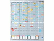 Nobo 7 T-Card Panel Office Planning Kit - 480 x 480mm | 7 Day Kit + 24h Del
