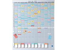 NOBO 7 T-CARD Pannello Ufficio pianificazione KIT - 480 x 480mm | 7 giorno KIT + 24h del