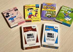 Vintage Mickey, Donald, Pinocchio Walt Disney Edu-Cards + Mixies, X2 Bible Games