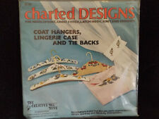 Coat Hangers, Lingerie Case and Tie Backs Cross Stitch Pattern