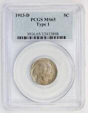 1913 D Buffalo Nickel MS 65 Type 1 PCGS (#2898)