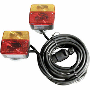 REAR LAMP ON MAGNETIC BASE WITH 7.5M + 2.5M CABLE REAR LIGHT BOARD TRAILER 81380